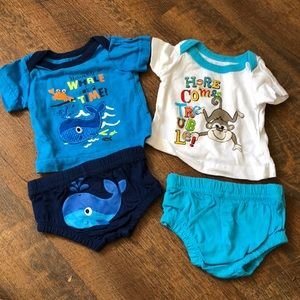 Newborn shirt and diaper cover